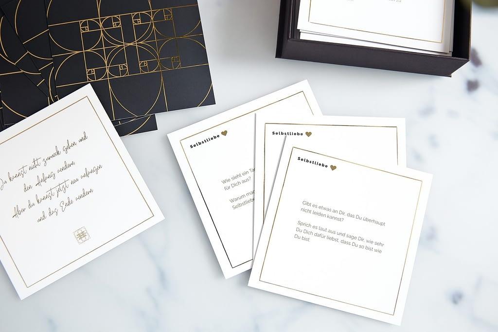 Produktbeispiele der Karten aus der Kategorie Selbstliebe